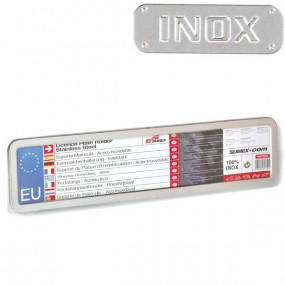 Support plaque immatriculation Inox