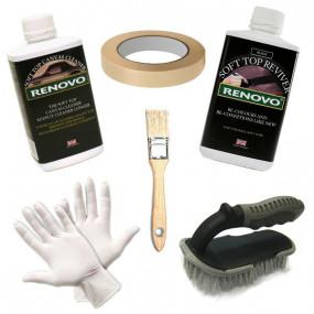 Kit de rénovation et entretien pour capotes toile noire