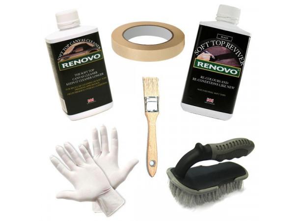 Kit de rénovation et entretien pour capotes toile noire (22561)