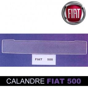 Grille de calandre inférieure pour Fiat 500 cab en inox