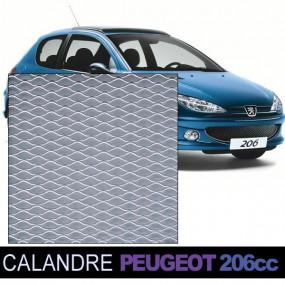 Grille calandre nid d'abeille Alu pour Peugeot 206 cc