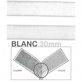 Velcro blanc 30mm