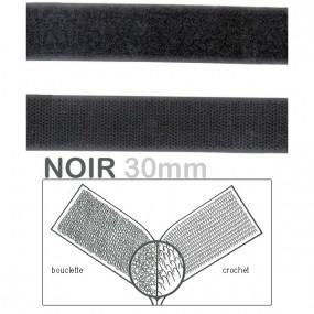 Velcro noir 30mm