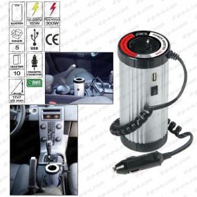 Convertisseur de tension 12-220 V, 150 W avec prise USB et prise secteur