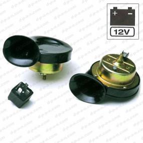 Klaxons noirs 107db 12V 8 amp - la paire