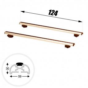 Barres de toit 124cm - Clipper
