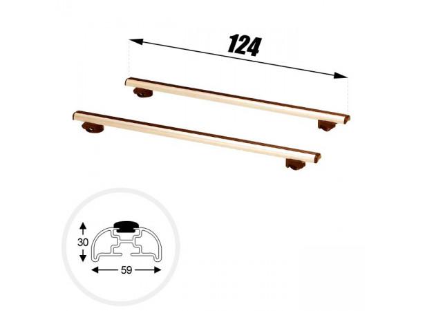 Barres de toit Clipper - 124cm