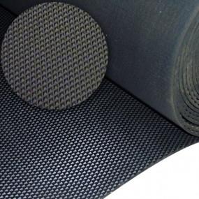 Tapis de sol en caoutchouc noir pointes diamant