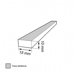 Bande caoutchouc cellulaire étanche 10mm x 15mm