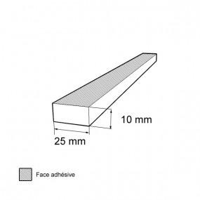 Bande caoutchouc cellulaire étanche 10mm x 25mm