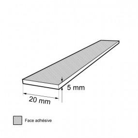 Bande caoutchouc cellulaire étanche 5mm x 20mm