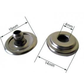 Boutons pression durable femelles en laiton nickelé