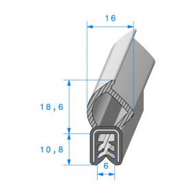 Joint coffre armé - 16 x 10.8 mm