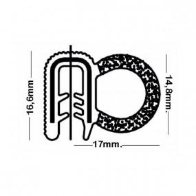 Joint de porte armé - 17 x 16,6 mm