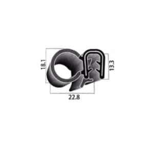 Joint de porte armé - 22.8 x 13.3 mm