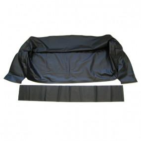 Habillage du coffre à capote en simili noir de Ford Galaxie cabriolet