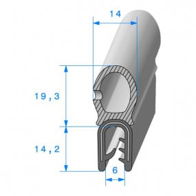 Joint coffre armé - 14 x 14.2 mm