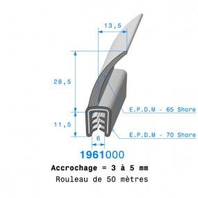 Joint coffre armé - 13.5 x 11.5