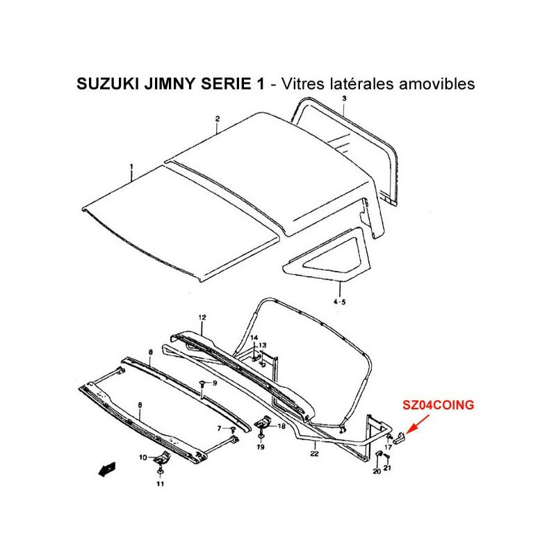 coin arri re gauche de liaison suzuki jimny s rie 1. Black Bedroom Furniture Sets. Home Design Ideas