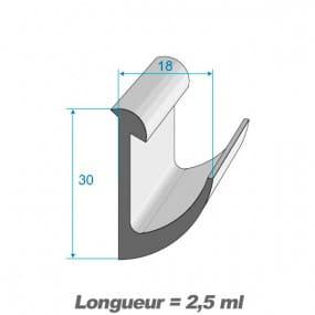 Joint de porte à lèvre - 18 x 30 mm
