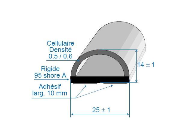 Butoir 25x14mm
