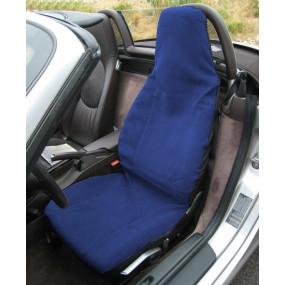 Couvre siège coton bleu foncé