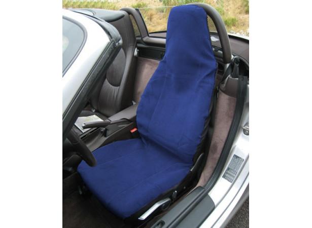 Couvre siège en éponge coton bleu