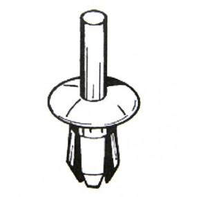 Rivet plastique Ø5mm noir pour blocage du couvre joint