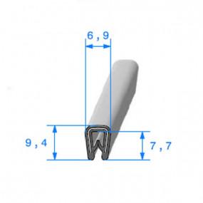 Joint armature métallique avec pince pvc armé - 6,9 x 9,4 mm
