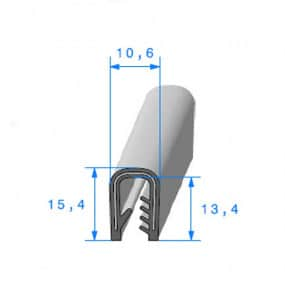 Joint armature métallique avec pince pvc armé - 10.6 x 15.4 mm
