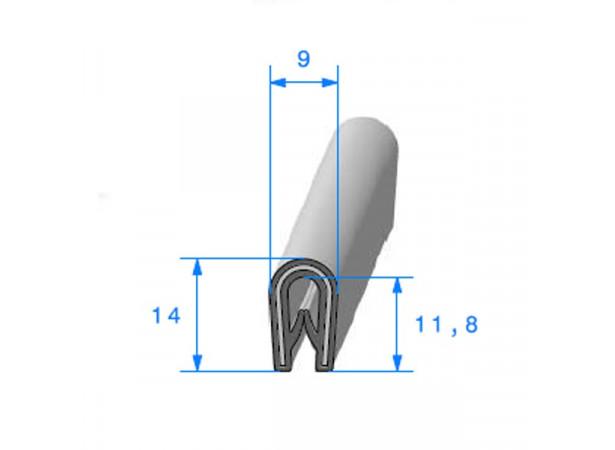 Joint armature métallique avec pince pvc armé (26420)