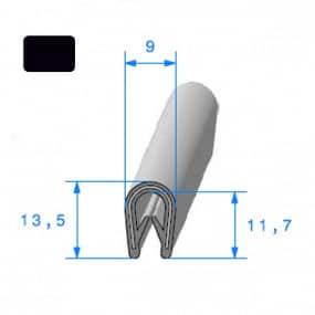 Joint armature métallique avec pince pvc armé Noir