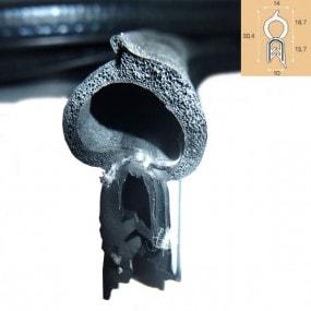 Joint de coffre noir - 14 x 13.7 mm