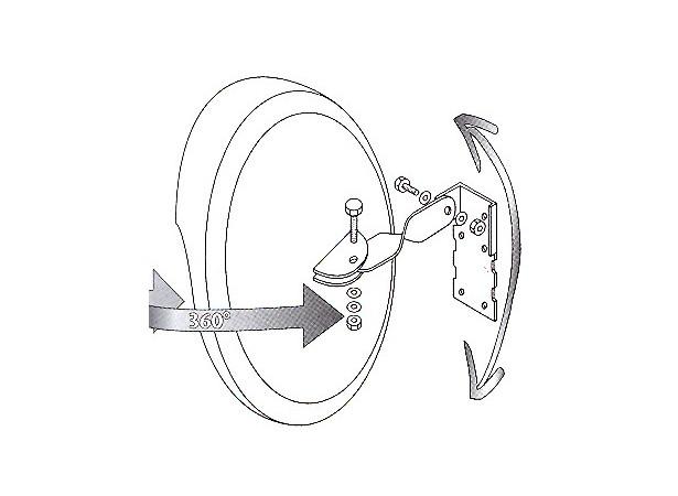 miroir convexe 30cm 75123. Black Bedroom Furniture Sets. Home Design Ideas