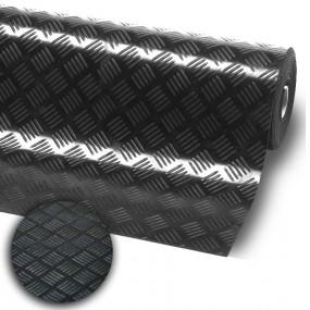 Tapis de sol en caoutchouc imitation métal noir
