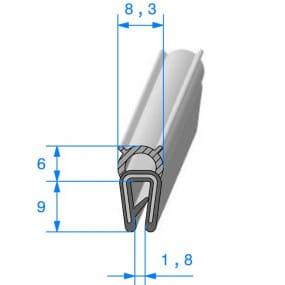 Joint coffre noir - 8.3 x 9 mm