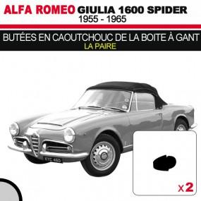 Butées en caoutchouc de la boite à gant cabriolets Alfa Romeo Giulia Spider 1600