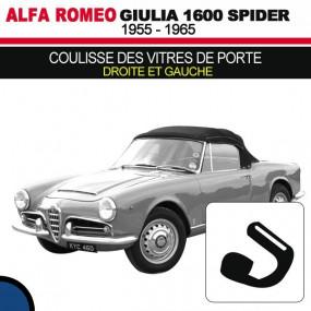 Coulisse des vitres de porte (droite et gauche) cabriolets Alfa Romeo Giulia Spider 1600