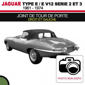 Joint de tour de porte droit et gauche pour les cabriolets Jaguar Type E Série 2 et 3