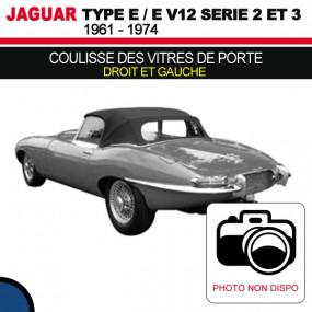 Coulisse des vitres de porte (droit et gauche) pour les cabriolets Jaguar Type E Série 2 et 3