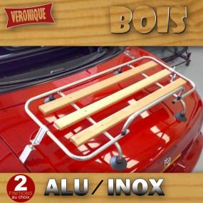 Porte-bagages bois Véronique 3 barres alu ou inox