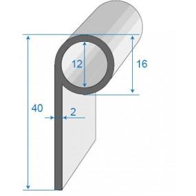 Joint bavette caoutchouc cellulaire décallée - 16 x 40 mm