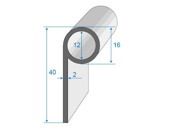 Joint à bavette caoutchouc cellulaire décallée