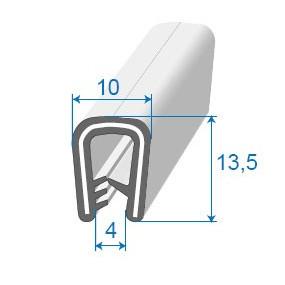 Joint armature métallique avec pince pvc armé - 10 x 13.5 mm