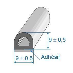 Joint cellulaire avec face adhésive - 9 x 9 mm