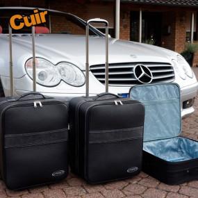 Bagagerie sur-mesure cuir pour Mercedes SL R230 cabriolet
