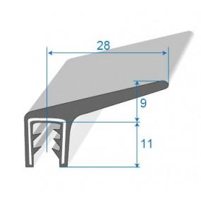 Joint coffre sur armature métallique - 28 x 9 mm