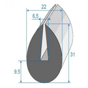 Joint de finition en U - 22 x 31 mm