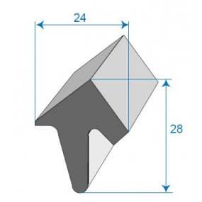 Joint de porte - 24 x 28 mm