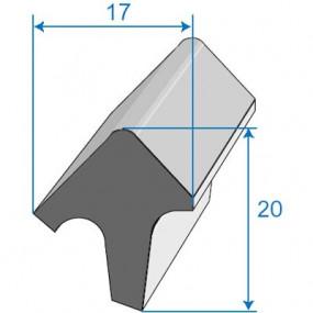 Joint de porte - 17 x 20 mm
